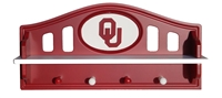 Oklahoma Sooners Logo Shelf with pegs