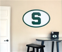 Michigan State Spartans   31 inch Logo Wall Art