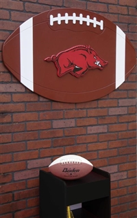 Arkansas Razorbacks Giant Football Art
