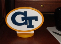 Georgia Tech Yellow Jackets Logo Art with Stand