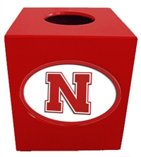 Nebraska Cornhuskers Tissue Box Cover
