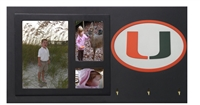 Miami Hurricanes Key Holder with Picture Frame
