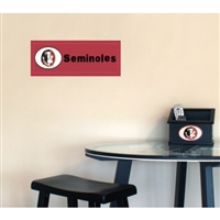 Fan Creations Florida State Seminoles Team Name Plaque