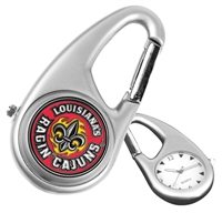 Louisiana Lafayette Ragin' Cajuns Carabiner Watch
