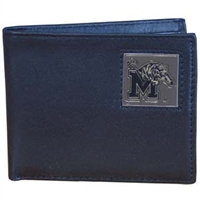Memphis Tigers Leather Bi-fold Wallet