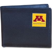 College Leather Bifold - Minnesota Golden Gophers