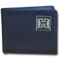 Hawaii Warriors Leather Bifold Wallet