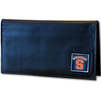 Deluxe College Leather Checkbook - Syracuse Orange