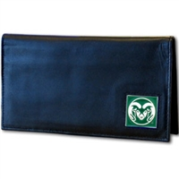 Deluxe College Leather Checkbook - Colorado St. Rams