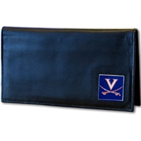 Deluxe College Leather Checkbook - Virginia Cavaliers