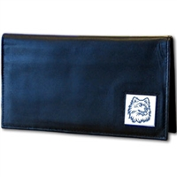 Deluxe College Leather Checkbook - UCONN Huskies