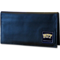 Deluxe College Leather Checkbook - Pittsburgh Panthers