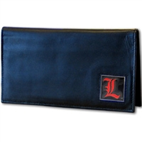 Deluxe College Leather Checkbook - Louisville Cardinals