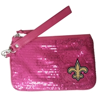 New Orleans Saints NFL Stat Pink Girls Wrislet (5 1/2 x 8 1/2 inches)