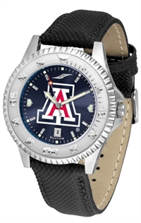 Arizona Wildcats Competitor AnoChrome Watch, Poly/Leather Band