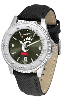 Cincinnati Bearcats Competitor AnoChrome Watch, Poly/Leather Band