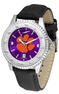Clemson Tigers Competitor AnoChrome Watch, Poly/Leather Band
