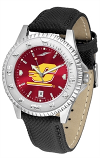 Central Michigan Chippewas Competitor AnoChrome Watch, Poly/Leather Band
