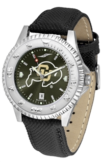 Colorado Buffaloes Competitor AnoChrome Watch, Poly/Leather Band