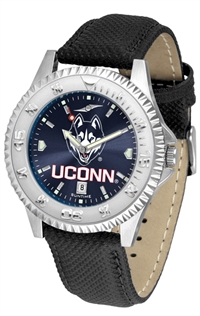 Connecticut Huskies UCONN Competitor AnoChrome Watch, Poly/Leather Band