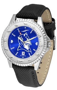 Duke Blue Devils Competitor AnoChrome Watch, Poly/Leather Band