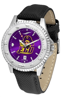 East Carolina Pirates Competitor AnoChrome Watch, Poly/Leather Band