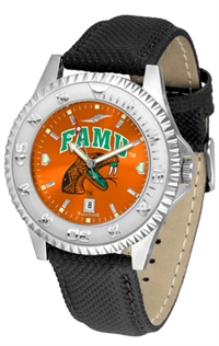 Florida A&M Rattlers Competitor AnoChrome Watch, Poly/Leather Band
