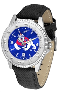 Fresno State Bulldogs Competitor AnoChrome Watch, Poly/Leather Band
