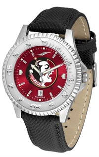 Florida State Seminoles Competitor AnoChrome Watch, Poly/Leather Band