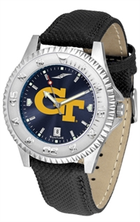 Georgia Tech Yellow Jackets Competitor AnoChrome Watch, Poly/Leather Band