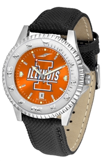 Illinois Fighting Illini Competitor AnoChrome Watch, Poly/Leather Band