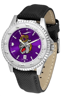 James Madison Dukes Competitor AnoChrome Watch, Poly/Leather Band