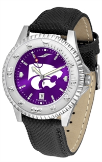 Kansas State Wildcats Competitor AnoChrome Watch, Poly/Leather Band