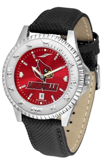 Louisville Cardinals Competitor AnoChrome Watch, Poly/Leather Band