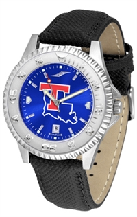 Louisiana Tech Bulldogs Competitor AnoChrome Watch, Poly/Leather Band