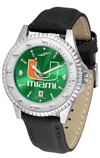 Miami Hurricanes Competitor AnoChrome Watch, Poly/Leather Band