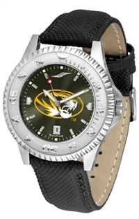 Missouri Tigers Competitor AnoChrome Watch, Poly/Leather Band