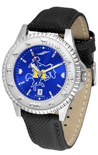 McNeese State Cowboys Competitor AnoChrome Watch, Poly/Leather Band