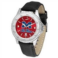 Ole Miss Rebels Competitor AnoChrome Watch, Poly/Leather Band