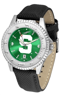 Michigan State Spartans Competitor AnoChrome Watch, Poly/Leather Band