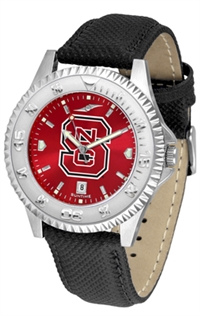 North Carolina State Wolfpack Competitor AnoChrome Watch, Poly/Leather Band