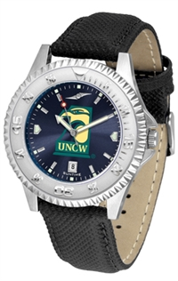 North Carolina Wilmington (UNCW) Seahawks Competitor AnoChrome Watch, Poly/Leather Band