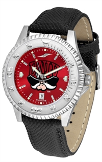 Nevada Las Vegas UNLV Rebels Competitor AnoChrome Watch, Poly/Leather Band