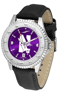 Northwestern Wildcats Competitor AnoChrome Watch, Poly/Leather Band