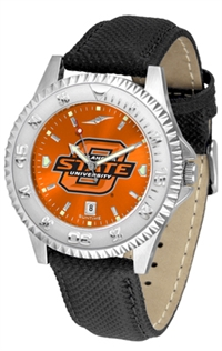 Oklahoma State Cowboys Competitor AnoChrome Watch, Poly/Leather Band