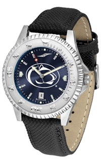 Penn State Nittany Lions Competitor AnoChrome Watch, Poly/Leather Band