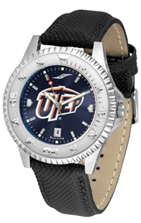 Texas El Paso UTEP Miners Competitor AnoChrome Watch, Poly/Leather Band