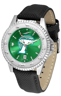 Tulane Green Wave Competitor AnoChrome Watch, Poly/Leather Band