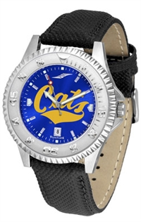 Montana State Bobcats Competitor AnoChrome Watch, Poly/Leather Band