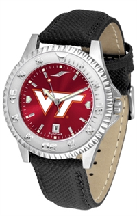 Virginia Tech Hokies Competitor AnoChrome Watch, Poly/Leather Band